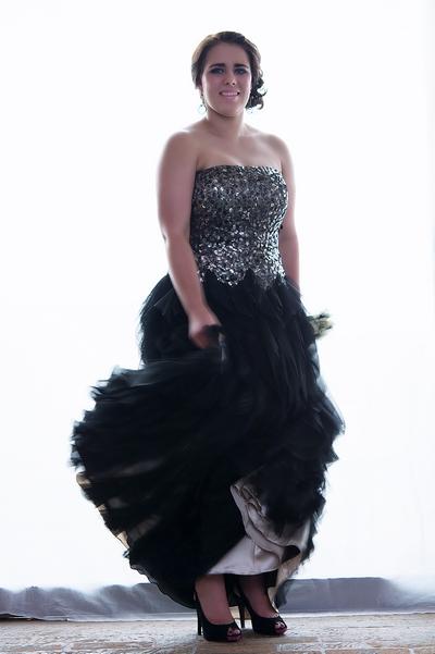 Matric dance dress, matric ball dress, evening dress, evening dress with frill detail, sequined evening dress